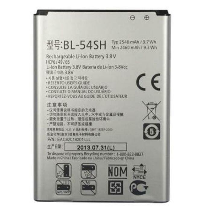 LG G3 Mini, G3 S (D722), L80 (D380), L90 (D405N), Bello, gyári típusú akkumulátor, 2460 mAh (BL-54SH)