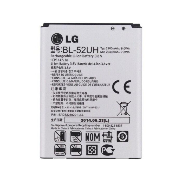 Gyári típusú akkumulátor LG L65 (D280), L70 (D320), Spirit, C70 típusú készülékhez, 2100 mAh (BL-52UH)
