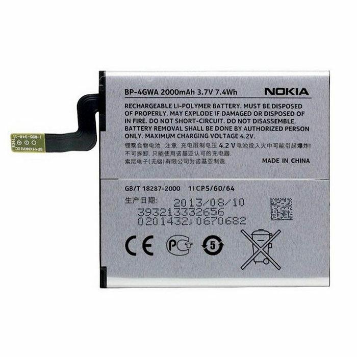 Gyári típusú akkumulátor Nokia Lumia 625, Lumia 720 típusú készülékhez, 2000 mAh (BP-4GWA)