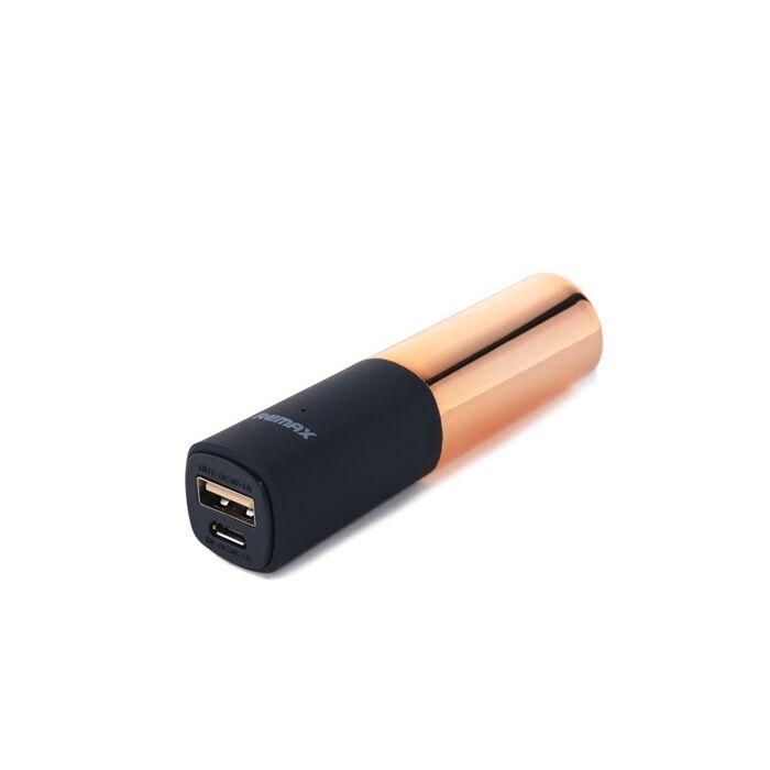 2400 mAh-s Remax Lipstick, rúzs alakú külső akkumulátor, Power Bank (RPL-12), arany