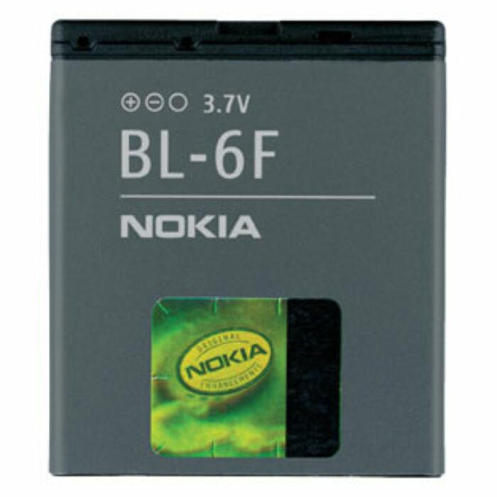 Nokia N95 8GB, N78, N79, gyári típusú akkumulátor, 1200 mAh (BL-6F)
