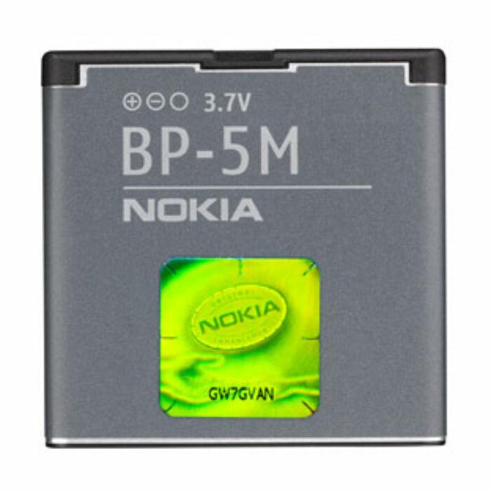 Gyári típusú akkumulátor Nokia 5610, 6110, 6220, 6500 típusú készülékhez, 900 mAh (BP-5M)
