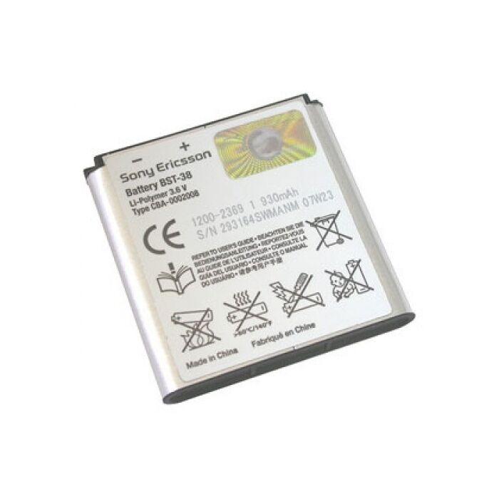 Sony Ericsson Xperia X10 Mini Pro, gyári típusú akkumulátor, 930 mAh (BST-38)