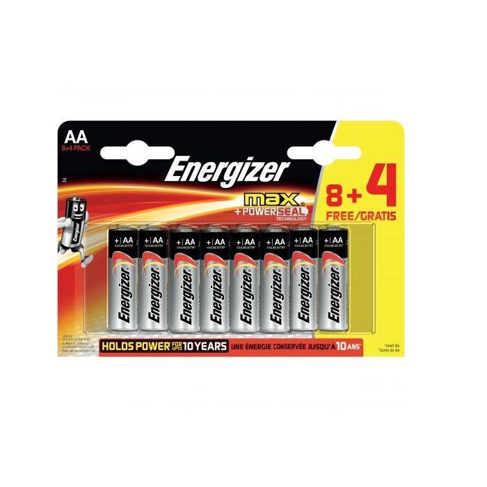 Energizer Max alkáli tartós ceruza elem 1,5V AA (8+4 darabos)