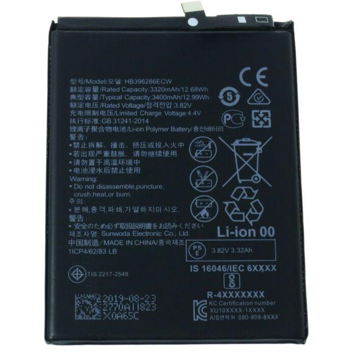 Gyári típusú akkumulátor Huawei P Smart 2019 (POT-LX1), Honor 10 Lite (HRY-LX1) típusú készülékhez, 3400 mAh (HB396286ECW)