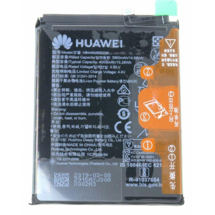 Huawei P Smart Z, P20 Lite (2019), eredeti, gyári akkumulátor, 4000 mAh (HB446486ECW)