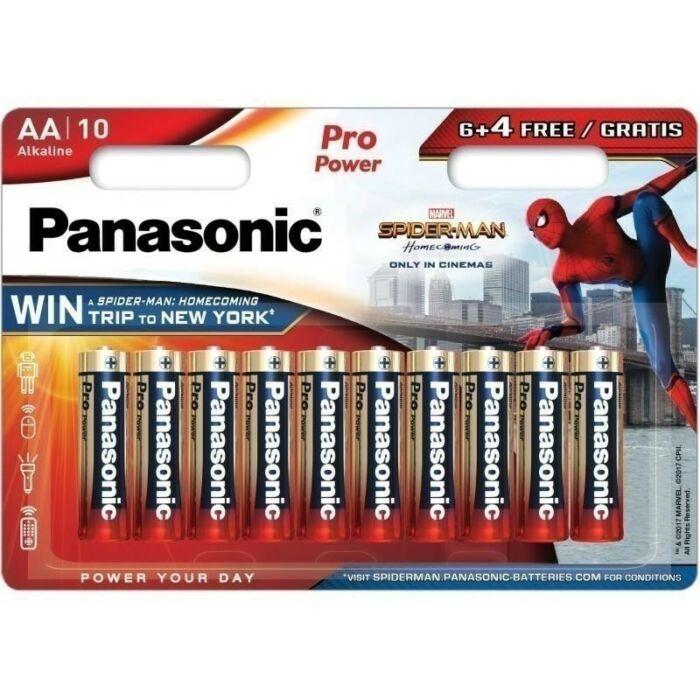 Panasonic Spiderman Pro Power alkáli tartós ceruza elem 1,5V AA (6+4 darabos)