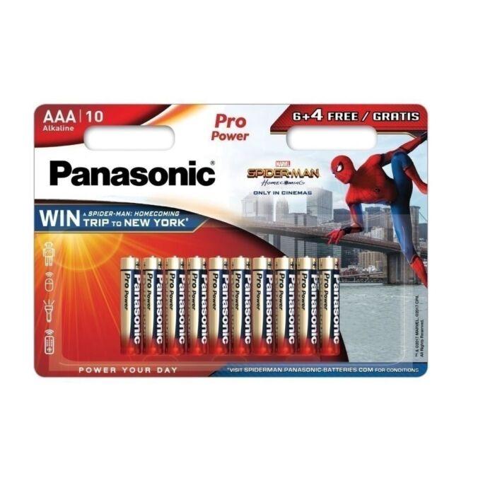 Panasonic Spiderman Pro Power alkáli tartós ceruza elem 1,5V AAA (6+4 darabos)