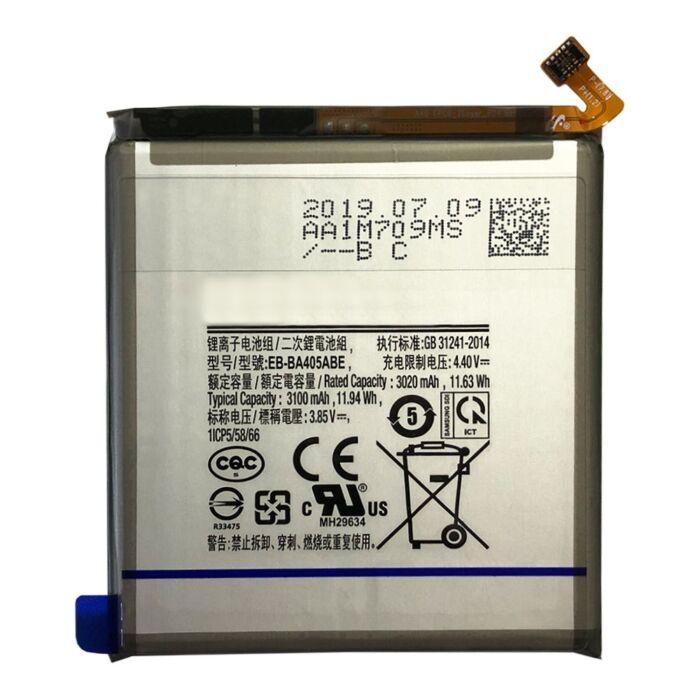 Samsung Galaxy A40 (A405), gyári típusú akkumulátor, 3100 mAh (EB-BA405ABE)