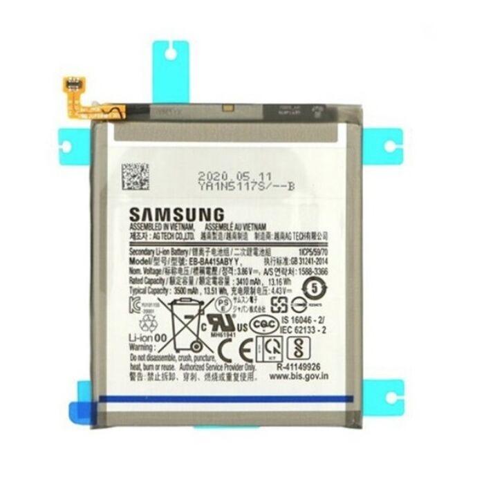 Samsung Galaxy A41 (A415) gyári, eredeti akkumulátor, 3410 mAh (EB-BA515ABY)