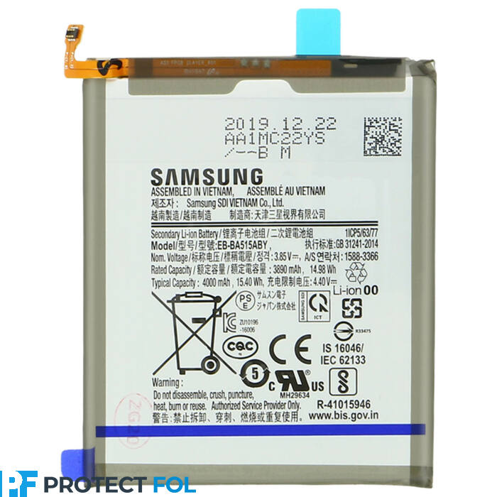 Samsung Galaxy A51 (A515) gyári, eredeti akkumulátor, 3890 mAh (EB-BA515ABY)