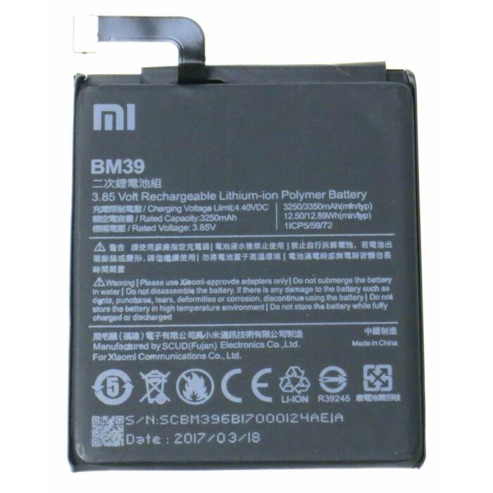 Gyári típusú akkumulátor Xiaomi Mi 6 típusú készülékhez, 3250 mAh (BM39)