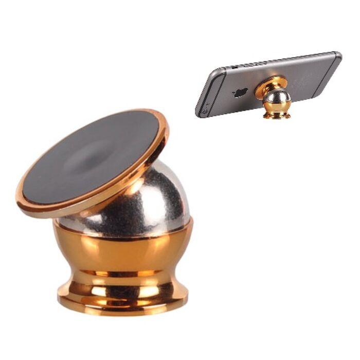 Univerzális, mágneses autós tartó fémből, arany