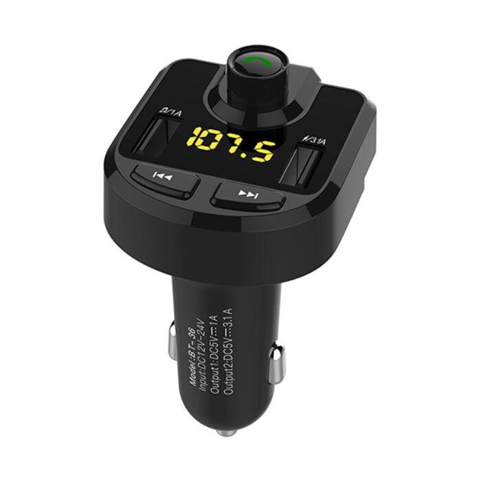 Bluetooth FM transmitter és kihangosító BT-36, 3.1A töltéssel