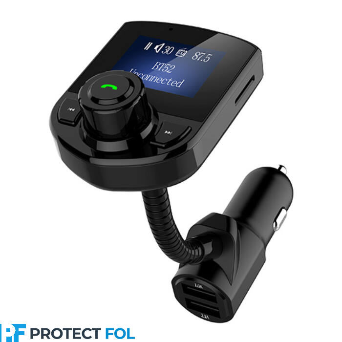 Bluetooth FM transmitter és kihangosító BT-52, 3.1A töltéssel