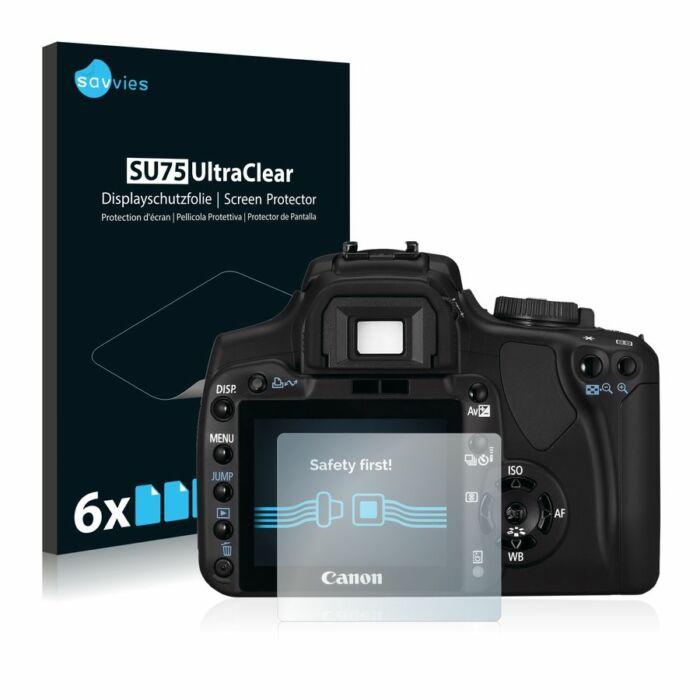 6db-os Savvies SU75 kijelzőfólia, Canon EOS 400D típusú fényképezőhöz