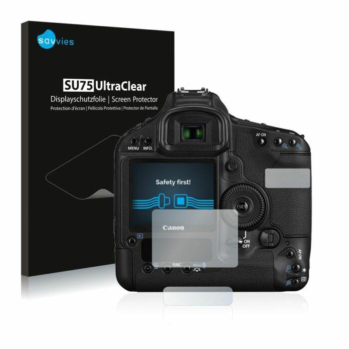 6db-os Savvies SU75 kristálytiszta fólia, Canon EOS 1D Mark III típusú fényképezőhöz