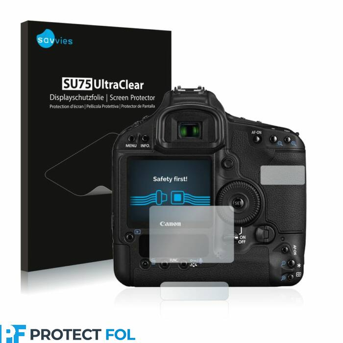 6db-os Savvies SU75 kijelzőfólia, Canon EOS 1D Mark III típusú fényképezőhöz