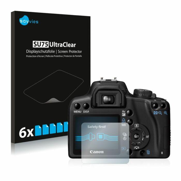 6db-os Savvies SU75 kristálytiszta fólia, Canon EOS 1000D típusú fényképezőhöz