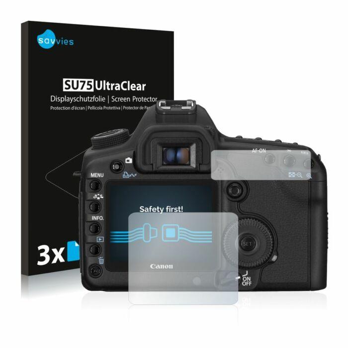 6db-os Savvies SU75 kijelzőfólia, Canon EOS 5D Mark II típusú fényképezőhöz