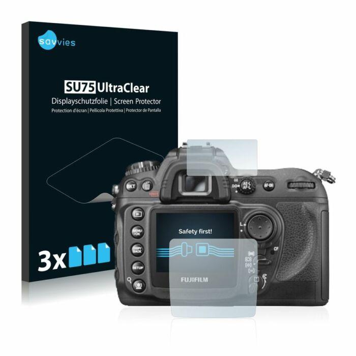 6db-os Savvies SU75 kijelzőfólia, FujiFilm FinePix S5 PRO típusú fényképezőhöz