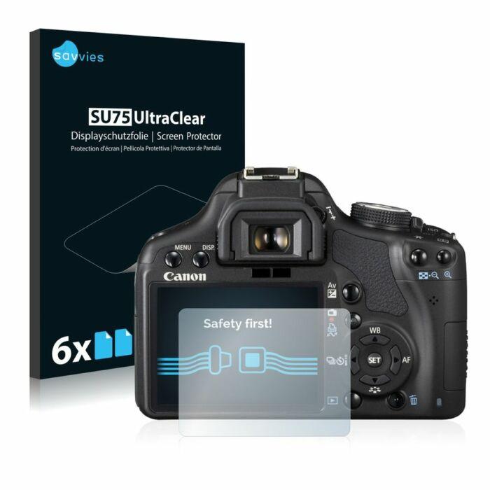 6db-os Savvies SU75 kristálytiszta fólia, Canon EOS 500D típusú fényképezőhöz