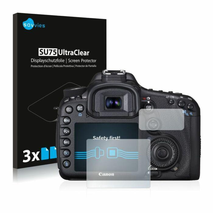 6db-os Savvies SU75 kijelzőfólia, Canon EOS 7D típusú fényképezőhöz