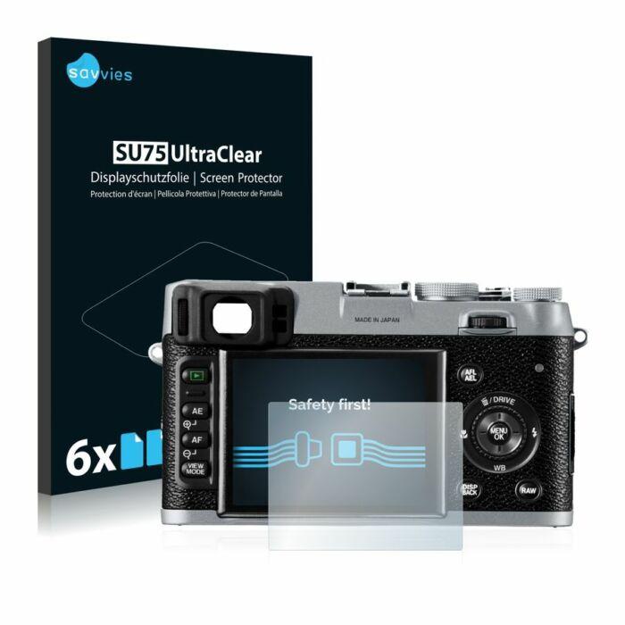 6db-os Savvies SU75 kijelzőfólia, FujiFilm FinePix X100 típusú fényképezőhöz