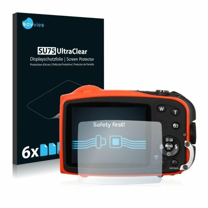 6db-os Savvies SU75 kijelzőfólia, FujiFilm FinePix XP70 típusú fényképezőhöz
