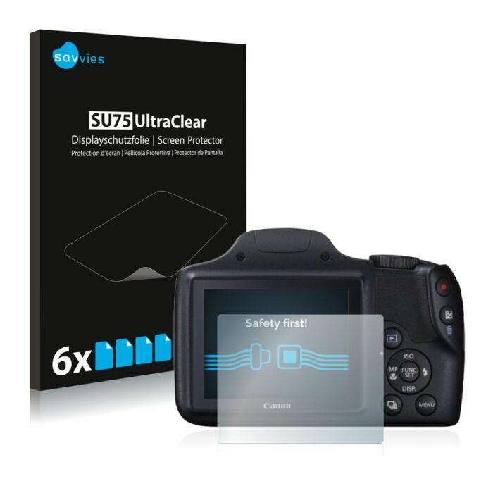 6db-os Savvies SU75 kristálytiszta fólia, Canon PowerShot SX520 HS típusú fényképezőhöz