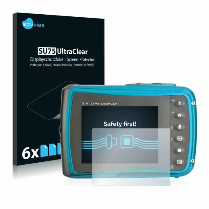 6db-os Savvies SU75 kijelzőfólia, Easypix Aquapix W1024 Splash típusú fényképezőhöz