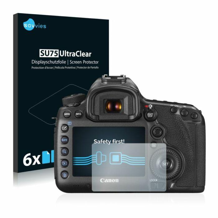 6db-os Savvies SU75 kijelzőfólia, Canon EOS 5DS R típusú fényképezőhöz