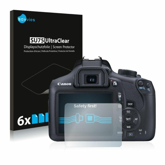 6db-os Savvies SU75 kijelzőfólia, Canon EOS 1300D típusú fényképezőhöz