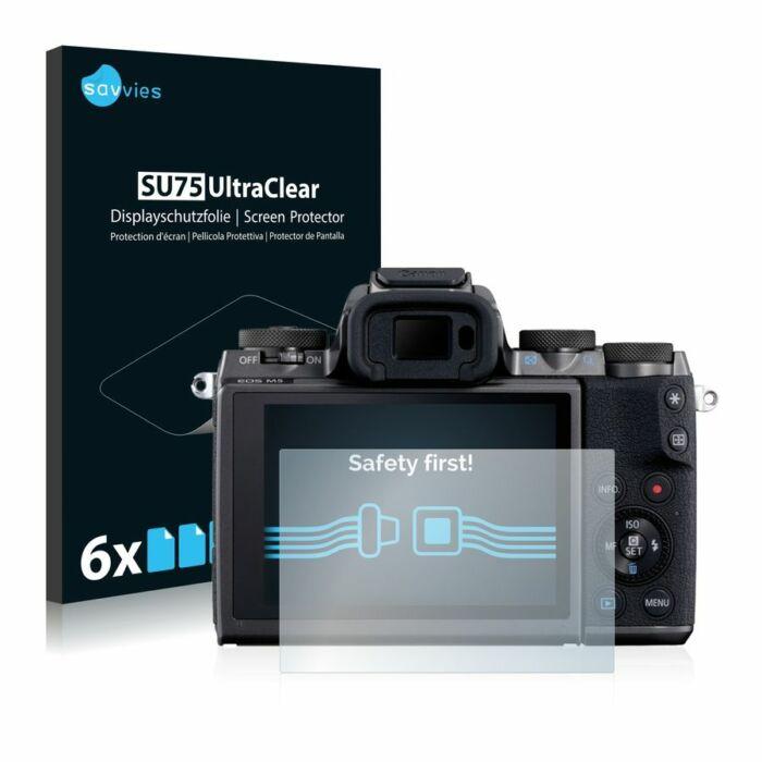 6db-os Savvies SU75 kristálytiszta fólia, Canon EOS M5 típusú fényképezőhöz