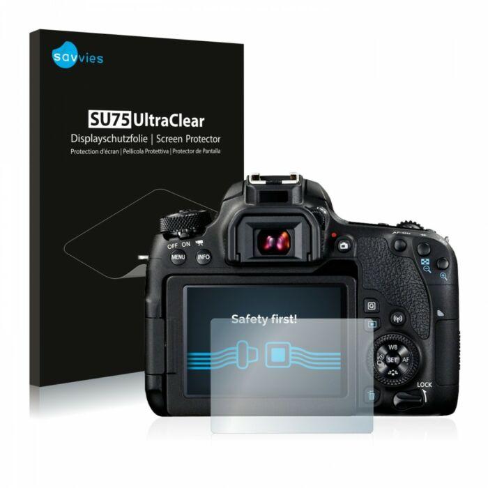 6db-os Savvies SU75 kijelzőfólia, Canon EOS 77D típusú fényképezőhöz