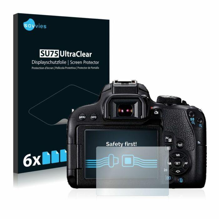 6db-os Savvies SU75 kijelzőfólia, Canon EOS 800D típusú fényképezőhöz
