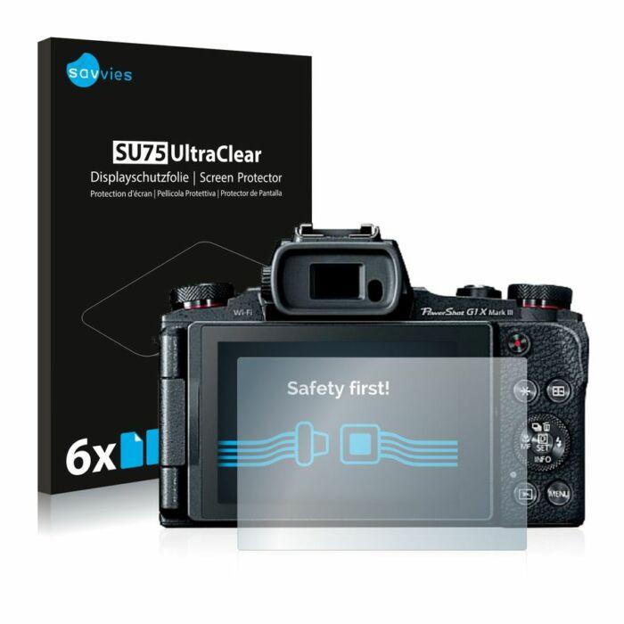 6db-os Savvies SU75 kijelzőfólia, Canon PowerShot G1 X Mark III típusú fényképezőhöz