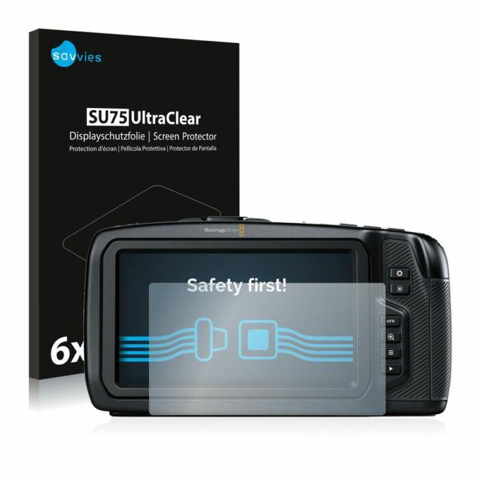 6db-os Savvies SU75 kristálytiszta fólia, Blackmagic Pocket Cinema 4K Camera típusú fényképezőhöz
