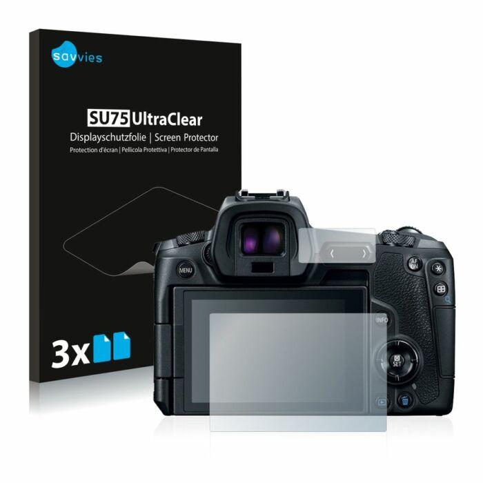 6db-os Savvies SU75 kristálytiszta fólia, Canon EOS R típusú fényképezőhöz