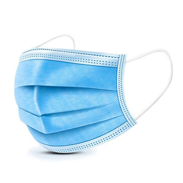 Eldobható műtős szájmaszk, sebészmaszk, orvosi maszk, kék (1db)