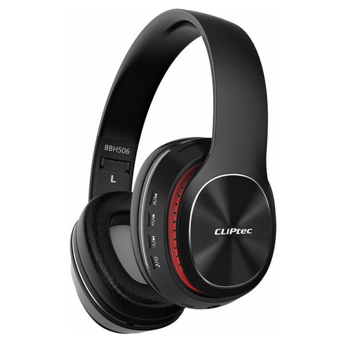 Cliptec Air Music bluetooth fejhallgató, headset (BBH506), fekete