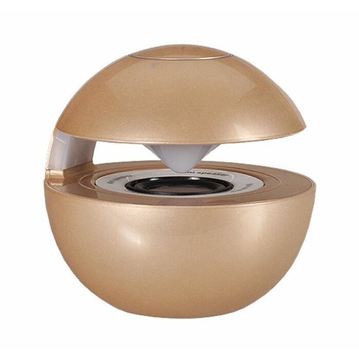 LED Ball bluetooth-os hangszóró, arany