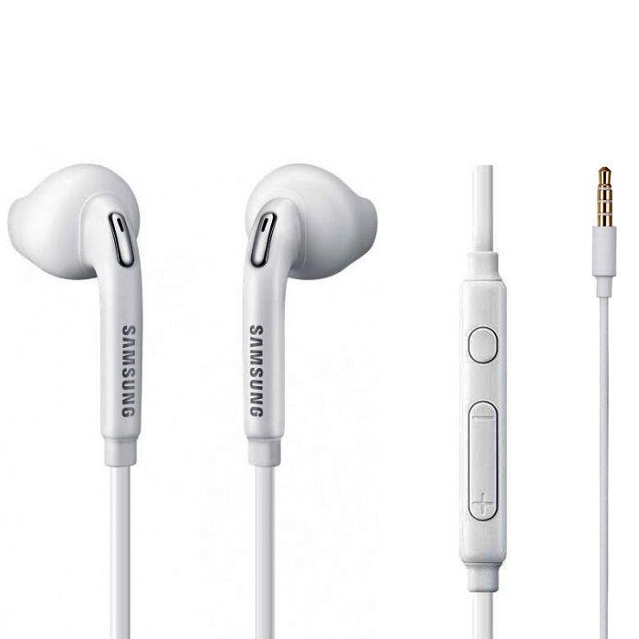 Samsung Galaxy S6 gyári típusú vezetékes sztereó headset, EO-EG920BW (3,5mm jack), fehér