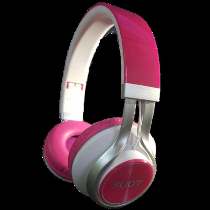 SOGT sztereó mikrofonos fejhallgató, headset, (ST-1081) (3,5mm jack), pink