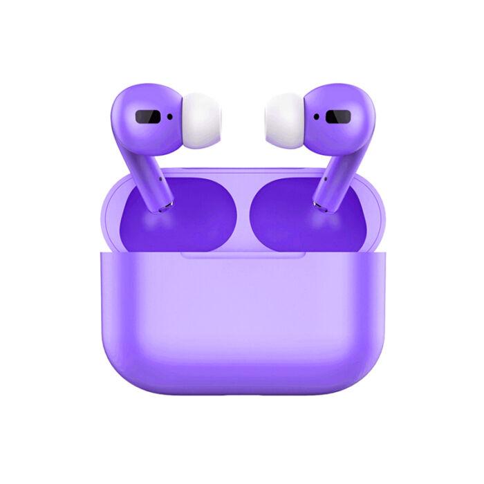 TWS i20 Air Pro, sztereó bluetooth 5.0 headset, power bank, lightning töltőcsatlakozóval (EDR), lila