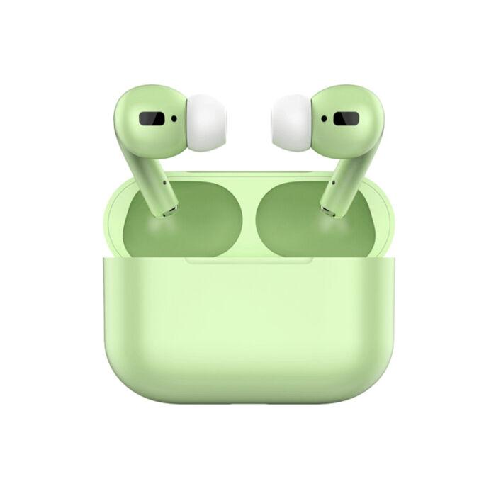 TWS i20 Air Pro, sztereó bluetooth 5.0 headset, power bank, lightning töltőcsatlakozóval (EDR), zöld