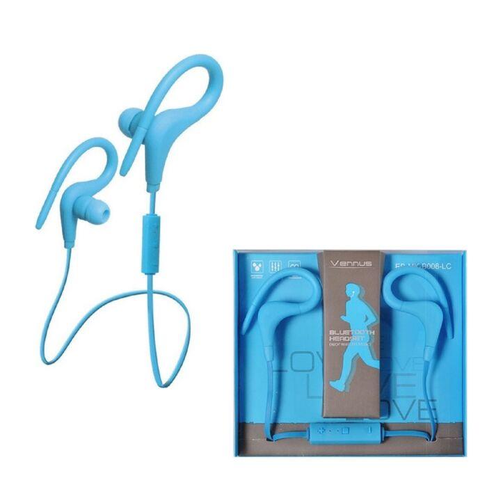 Vennus cseppálló bluetooth sztereó headset (BT-1), kék