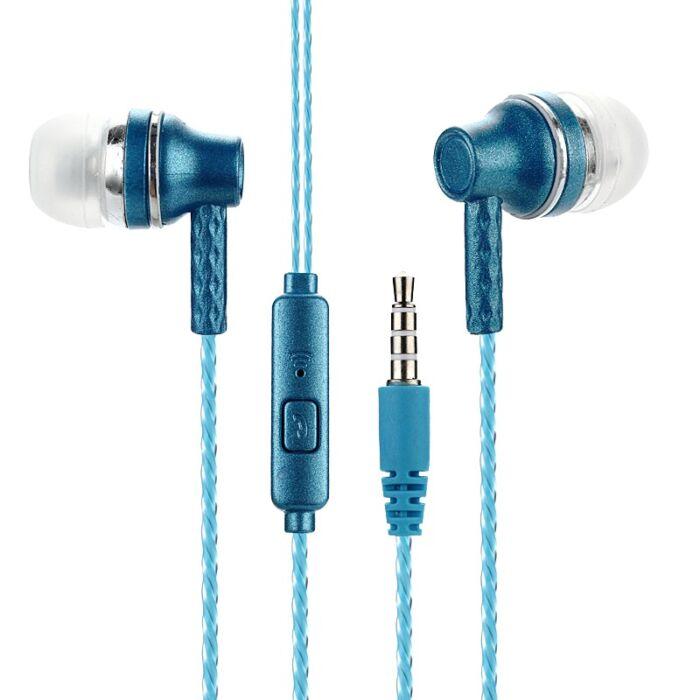 Univerzális ZZ-007 vezetékes sztereó headset (3,5mm jack), kék