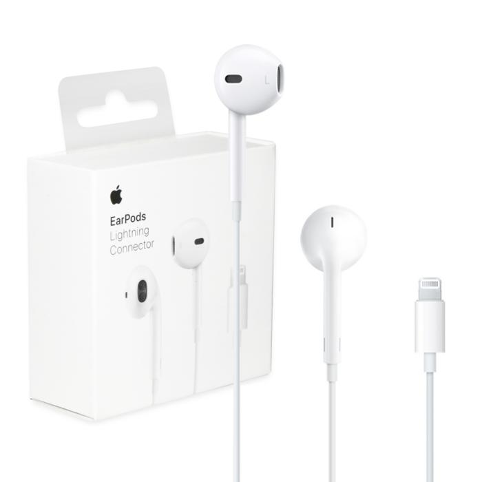 Apple Iphone 7, 8, X, 11 EarPods eredeti, gyári vezetékes sztereó headset BLISTER, MMTN2ZM/A (lightning), fehér