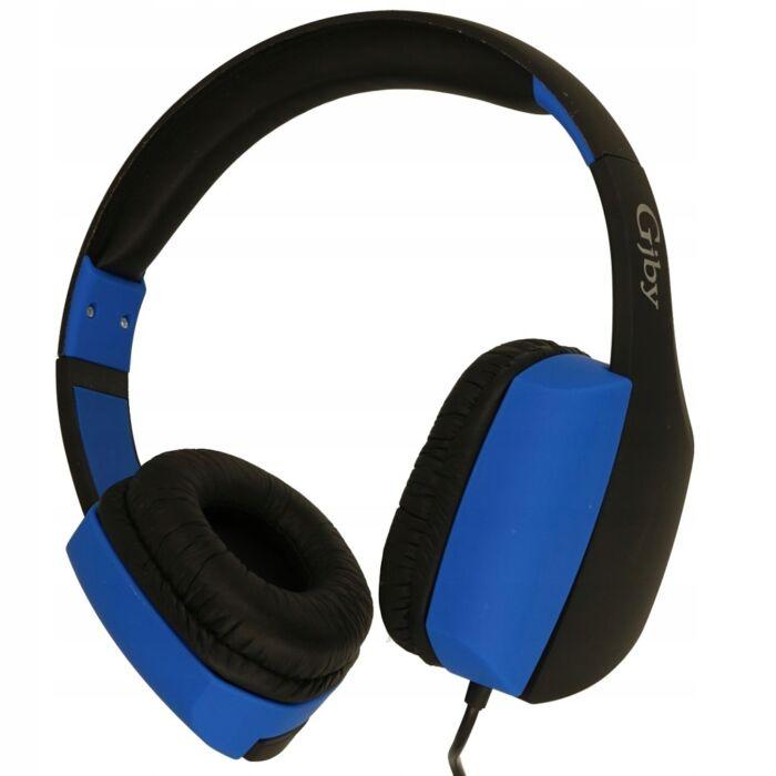 GJBY sztereó mikrofonos fejhallgató, headset, (GJ-24) (3,5mm jack), kék